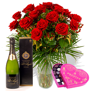 Surprise your Valentine with a nice bottle of Champaign or fine wine, gourmet chocolates and a dozen roses